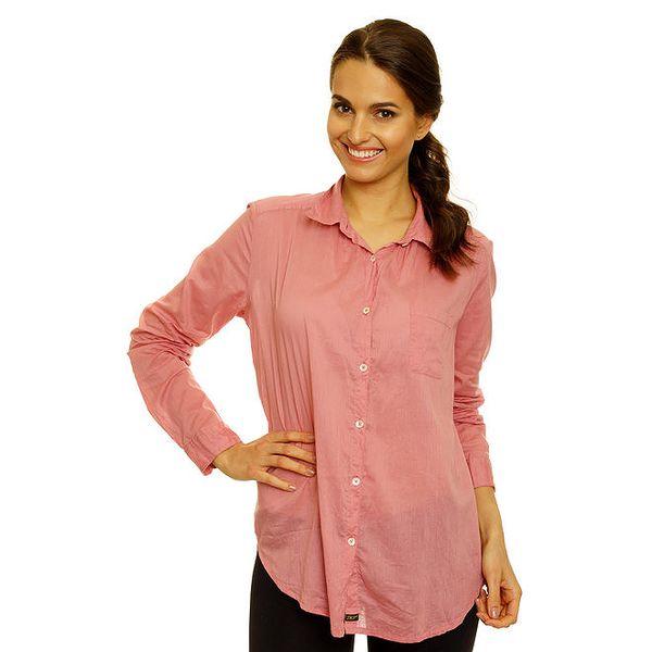 Dámská lososová bavlněná košile s dlouhým rukávem Nice Things