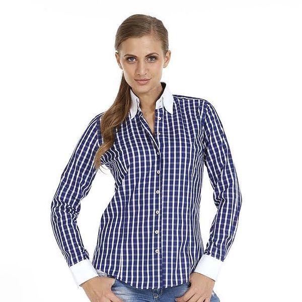 Dámská tmavě modrá kostkovaná košile Pontto