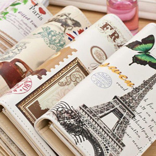 Dámské stylové peněženky s motivem měst, poštovné zdarma