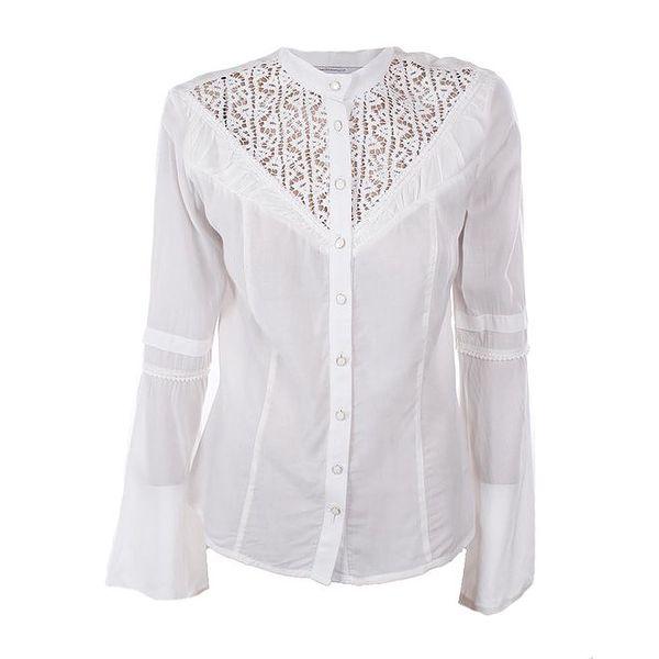 Dámská bílá košile s krajkou Angels Never Die