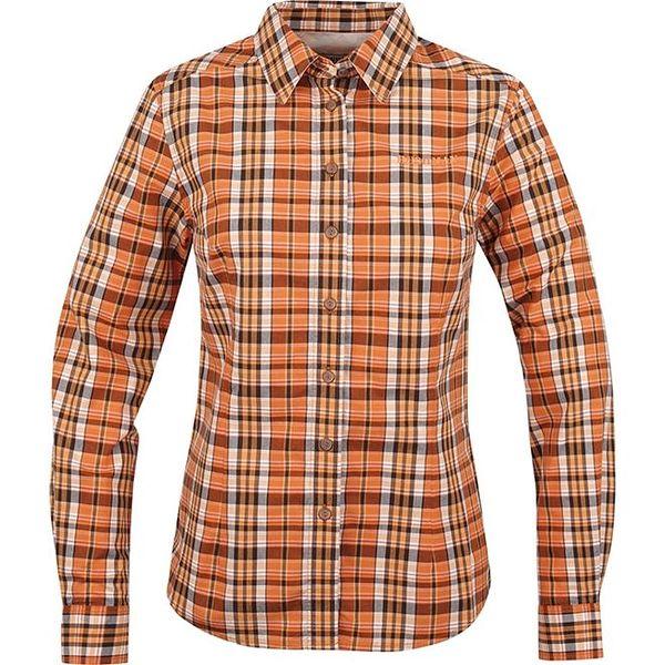 Dámská oranžová košile s kostkami Bushman