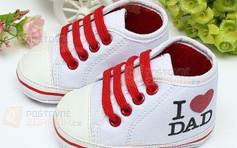 Roztomilé dětské botičky I love dad a poštovné ZDARMA! - 30714269