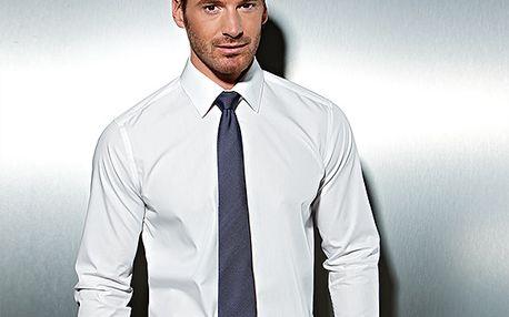 Hedvábná kravata, modrá