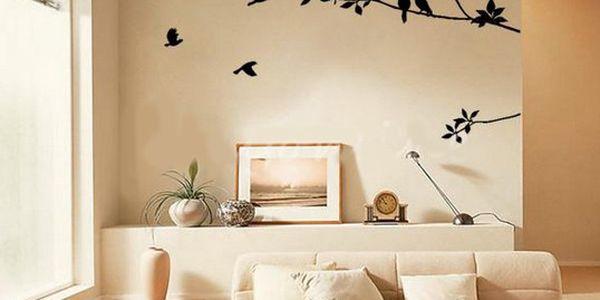 Ptáčci na větvi - samolepka na zeď!