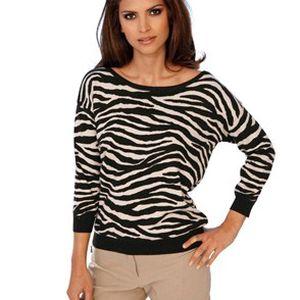 Módní dámský pulovr se zvířecím vzorem
