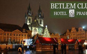 Krásný hotel v CENTRU Prahy s parkingem v ceně - Hotel Betlem Club*** pro 2 se snídaněmi