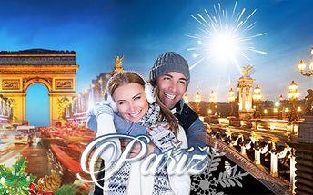 PŘEDVÁNOČNÍ A SILVESTROVSKÁ PAŘÍŽ! Jedinečná atmosféra, nádherné památky a skvělé nákupy!