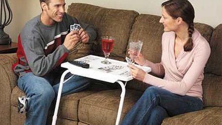 Výškově nastavitelný stolek Table mate je praktický , plně nastavitelný a víceúčelový