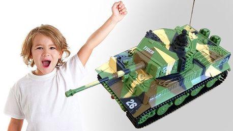 Vojenský tank Tiger na dálkové ovládání