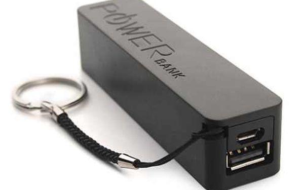 Pohotovostní nabíjecí baterie Power bank. Micro USB je kompatibilní s většinou mobilních telefonů