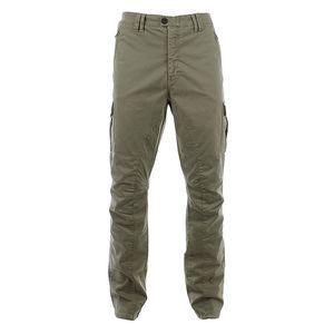 Pánské khaki kalhoty s řadou kapes Aeronautica Militare