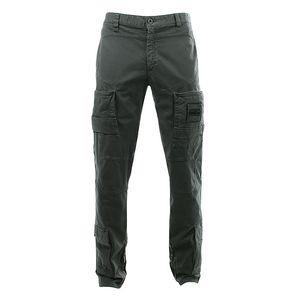 Pánské tmavě šedé kalhoty s několika kapsami Aeronautica Militare