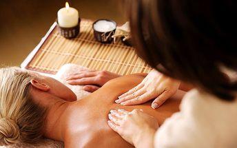 Klasická 60minutová relaxační masáž s prvky reflexní terapie pro 1 osobu v Plzni