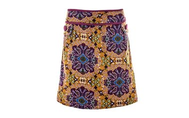 Dámská vzorovaná sukně s fialovými prvky Purple Jam