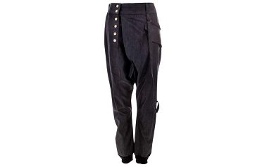 Dámské tmavé kalhoty na knoflíky Purple Jam