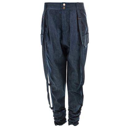 Dámské modré volnější kalhoty Purple Jam