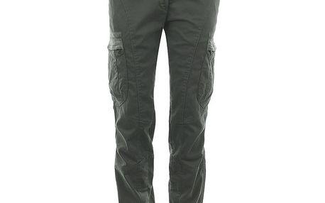 Dámské šedé kalhoty s kapsami na nohavicích Aeronautica Militare
