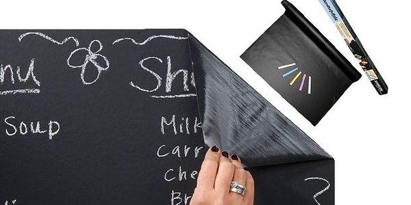 Samolepící papírová tabule na křídy s poštovným v ceně