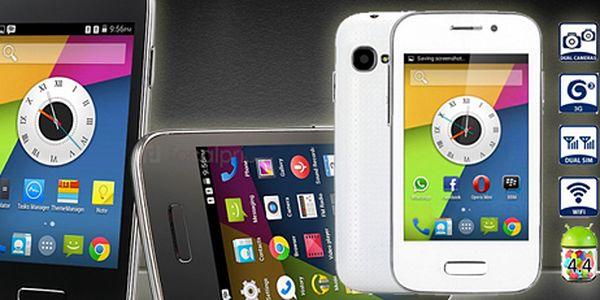 3,5″ smartphone s OS Android 4.4 a podporou dual SIM. 2 barvy!