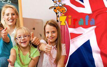 Balíčky vstupů do anglické herničky pro malé děti