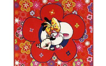 Diddl & Friends Deka Diddlina Deka 150x180cm Happy Flower, Diddlina