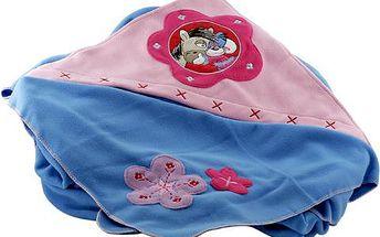 Diddl & Friends Přikrývka s kapucí Diddlina Fleece Blanket 150x180 cm