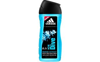 Adidas Sprchový gel a šampon pro muže Hair & Body Ice Dive (Shower Gel & Shampoo) 250 ml