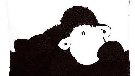 Polštář Sheepworld Polštář černá ovečka 35x25 cm