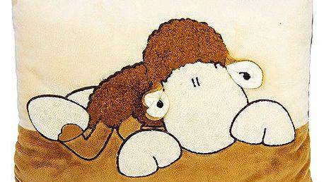 Polštář Sheepworld Polštář hnědá ovečka 35x25 cm