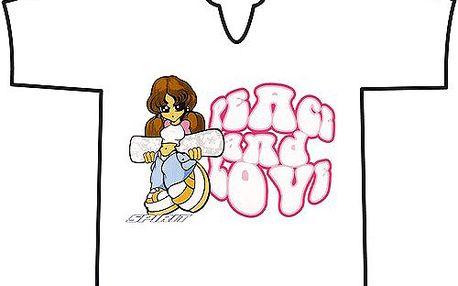 """Tričko Spirit Tričko s V BOARDER GIRL PAILLETTE světle růžové """"10"""""""