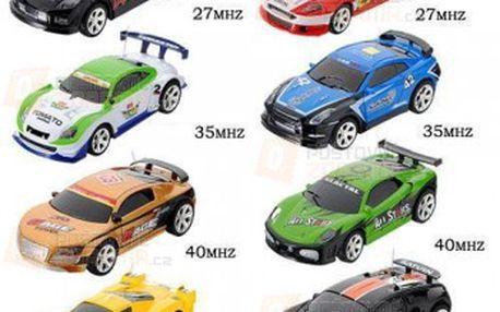 RC autíčko na dálkové ovládání v plechovce - na výběr z 8 aut a 4 frekvencí a poštovné ZDARMA! - 9999901227