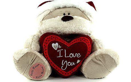 Medvídek Fizzy Moon Medvídek 35cm srdce I Love You Winter