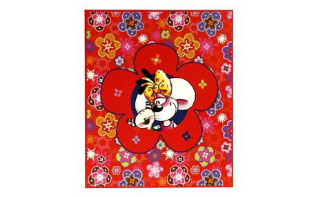 Diddl & Friends Deka Diddlina Deka 150x180cm Happy Flower, Diddlina