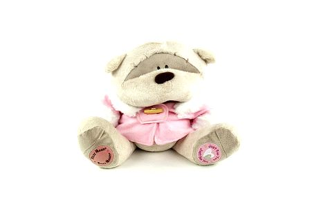 Medvídek Fizzy Moon Medvídek 30cm v růžovém kabátku Just for You Winter