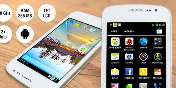 4″ smartphone s novým OS Android 4.4 a podporou dual SIM!