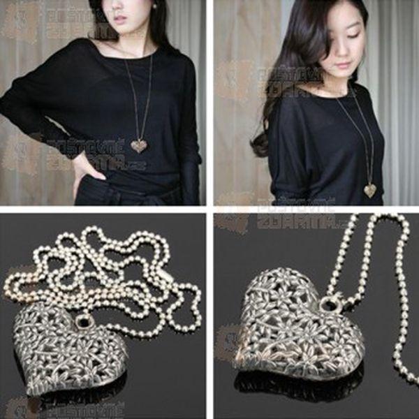 Stříbrný náhrdelník se srdcem a poštovné ZDARMA! - 31614416