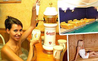 Wellness v pivních lázních v hotelu Dvořák v Táboře