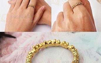 Zlatý prstýnek s květy a poštovné ZDARMA! - 30914496