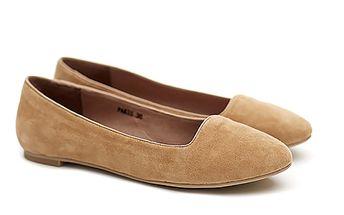 Dámské pískové semišové balerínky Shoe the Bear