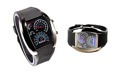 Sportovní a šik binární hodinky s LED podsvícením pro pány