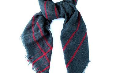 Dámský šátek s červenými pruhy Belle & Bloom