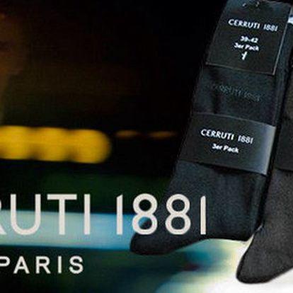 9 párů stylových pánských ponožek Cerruti 1881