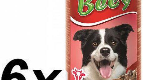 Akinu Bely kousky v omáčce s hovězím pro psy 6 x 1250g