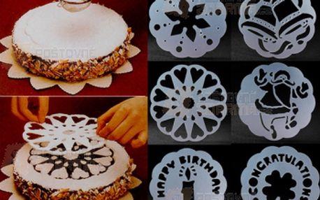 Slavnostní šablony na dort - 6 kusů a poštovné ZDARMA! - 9999914506