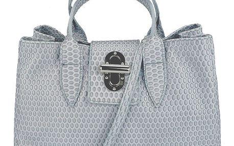 Dámská šedá kožená kabelka s kapičkami Giulia