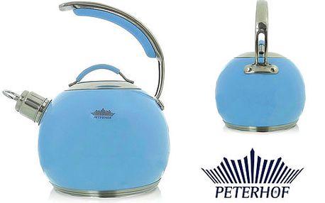 Čajník s píšťalkou od renomované společnosti Peterhof o objemu až 3 litry v pastelových barvách
