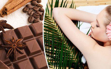 Hřejivý balíček čokoládovo-lávové masáže
