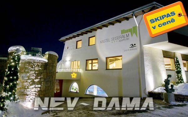 Aparthotel Kastel Seiser Alm, Val Gardena / Alpe di Siusi, Itálie, vlastní doprava, bez stravy