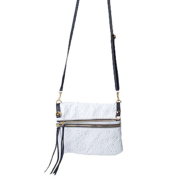 Dámská bílá kabelka se vzorem Pelleteria