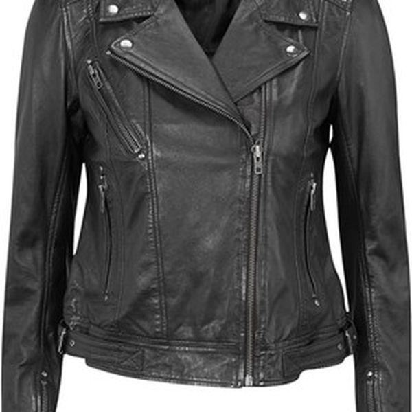Kožená bunda, černá